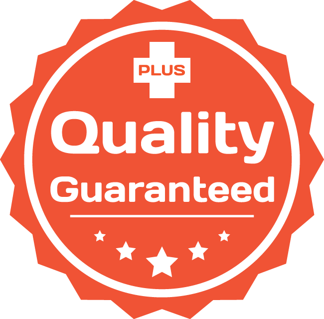 An icon representing the quality assurance Mainternance Plus provides for all clients and customers.